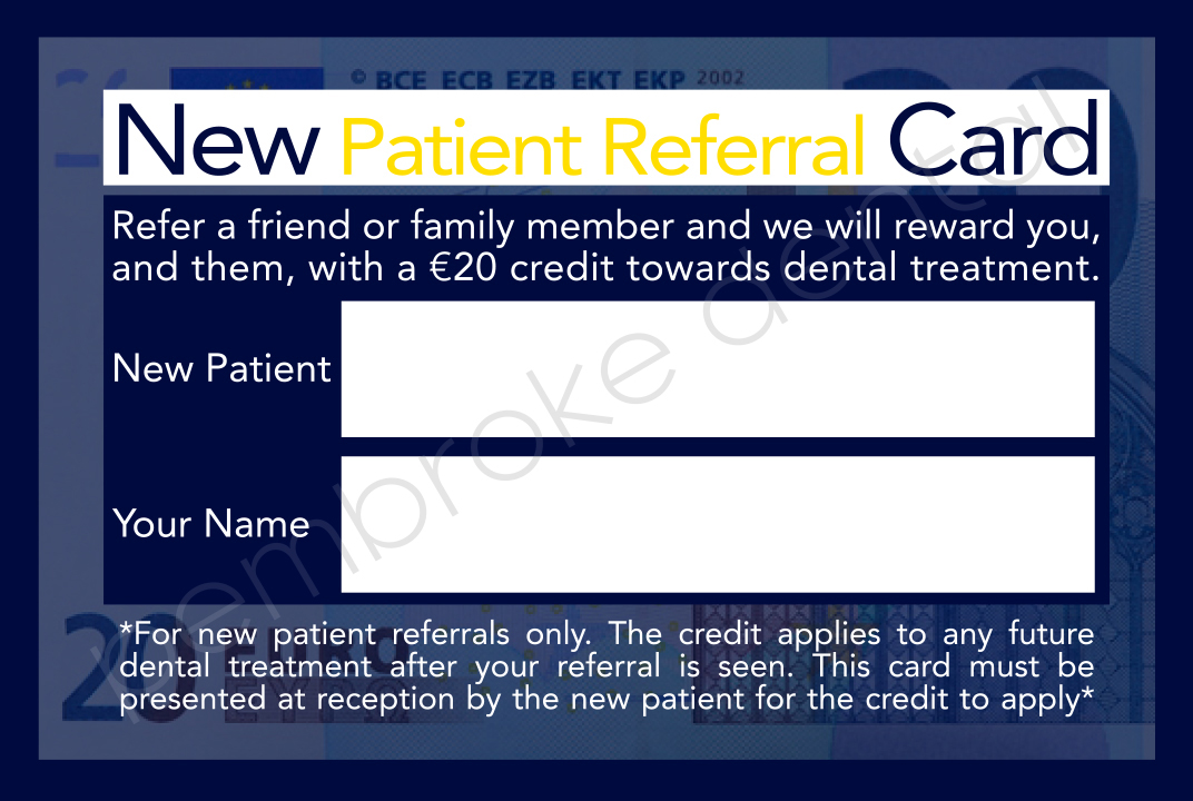 Dublin Dentist Referral Card